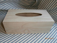 Plain Wooden Tissue Box Cover for Decoupage or Painting