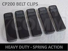 LOT OF 5 NEW MOTOROLA CP200 BELT CLIPS SPRING ACTION HEAVY DUTY BATTERY CLIP