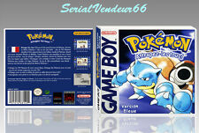 "BOITIER du jeu ""POKEMON VERSION BLEUE"", GAME BOY. PAL FR. HD. SANS LE JEU."