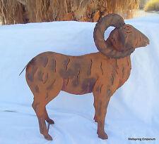 """Mountain Big Horn Ram 16.5"""" Metal Sculpture Indoor, Garden. Desert, Hearth Art"""