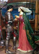 Tristan et isolde partage la potion Waterhouse toile / Fine Art Imprimer image