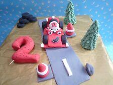 3D HANDMADE ROARY RACING CAR CAKE TOPPER / birthday topper
