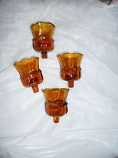 Home Interior Amber Tulip Votive Cups Set of 4