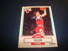 John Paxson Bulls Notre Dame 1990 NBA Fleer #28 Signed Authentic Autograph N13