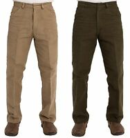 MENS CARABOU TROUSERS PANTS MOLESKIN WALKING WORK PLAIN SIMPLE PANTS SIZES 32-46