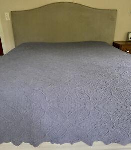 Linen Source Matelasse King Scalloped Portofino Portugal Bedspread Coverlet