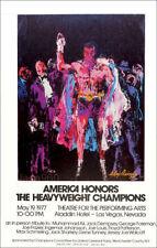 Leroy NEIMAN Muhammad Ali Boxing Champions 1977 Las Vegas Poster