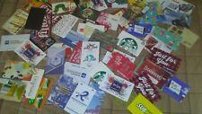60 MIXED GIFT/HOTEL KEY CARDS,MULTIPLES COOL,WALMART,PANDA,STARBUCKS,BONVOY