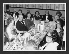 c1950s Photo: People sitting for Dinner at a Black Tie Event