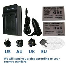2x EN-EL5 Battery+Car Charger For Nikon COOLPIX P3 P4 P90 P520 P6000 P500 Camera