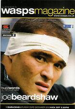 London VESPE V Saraceni 23 DICEMBRE 2000 programma Rugby