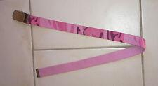 Ceinture fille motif camouflage rose longueur 70 cm
