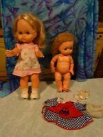 lot poupées des ans  60/70///////Fouria ITALIE ,CHEVEUX MOHAIRS 35cm