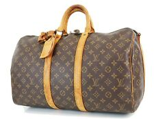 Authentic LOUIS VUITTON Keepall Bandouliere 45 Monogram Canvas Duffel Bag #36159