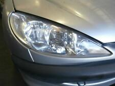 PEUGEOT 206 RIGHT HEADLAMP RIBBED LENS TYPE-SINGLE H GLOBE  10/99- 99 00 01 02