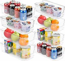 Set of 6 and 8 Refrigerator Pantry Organizers Utopia Home