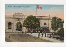 Callao Correos y Telegrafo Peru Vintage Postcard 487a
