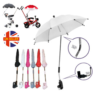 Pram Umbrella Canopy Parasol Universal Baby Toddler Shade Pushchair Sun or Rain
