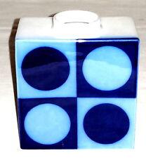 KPM Berlin Cadre Vase Modernist 70er Jahre Kobalt blau
