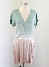 Young Fabulous & Broke Teal Pink Ombre Surplice Draped Dress Size XS V-Neck
