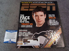 SIDNEY CROSBY Pittsburgh Penguins SIGNED Autographed ESPN Magazine 2006 BAS COA