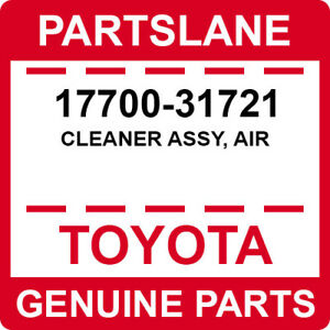 17700-31721 Toyota OEM Genuine CLEANER ASSY, AIR