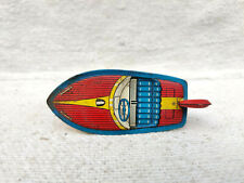 1930s Vintage TN Trademark No 8 Racer Floating Boat Litho Penny Tin Toy Japan