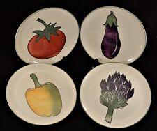 Harry and David – Salad Plates – Vegetable Design – Set of 4