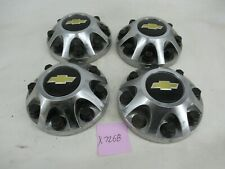 "Center Caps Hubcaps Chevy Silverado 2500 17"" Chrome 9597819 Wheel Oem Set"