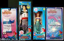 Ariel Eric Doll Ariel's Fin Fashion Eric's Fun Fashion Tyco Disney Doll Lot 4
