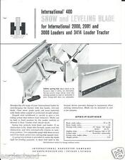 Equipment Brochure - Ih - 400 - Snow Levelling Blade for Tractor (E2269)
