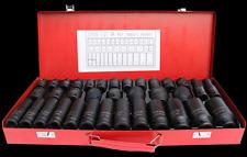 "35 pcs 1/2"" inch DEEP IMPACT SOCKET TOOL SET Metric Garage Workshop 8-32MM UK"