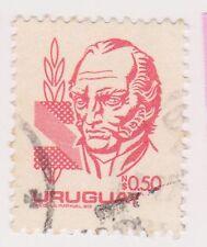 (UGA-95) 1980 Uruguay 50c red ARTIGAS (FX)