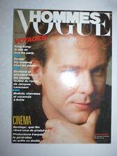 Magazine revue mode fashion VOGUE HOMMES #89 mai 1986 Mickey Rourke