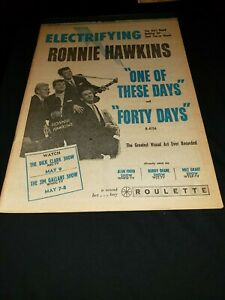 Ronnie Hawkins One Of These Days Rare Original Promo Poster Ad Framed!