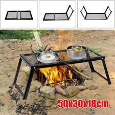 Docooler Outdoor Grillrost mit Füßen Klappgrill Grillgitter Campinggrill E4Y8
