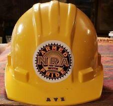 NRA Construction Hard Hat Yellow Flex Gear Adjustable Suspension
