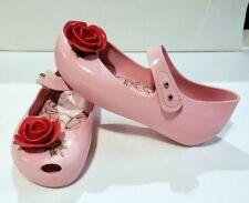 Mini Melissa Ultragirl Beauty & The Beast Pink Mary Jane Flat Girl's Size 11