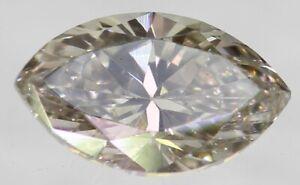 0.17 Carat Fancy Yellowish Brown VVS2 Marquise Natural Loose Diamond 4.96X2.82mm