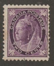 "Canada 1897 #68 Queen Victoria ""Maple Leaf"" Issue - F Used"