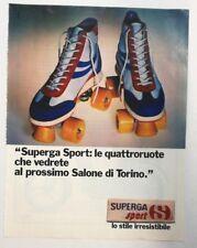 Pubblicità vintage 1981 SUPERGA SCARPE old advertising publicitè werbung reklame