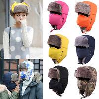 HD_ Unisex Men Women Winter Warm Ushanka Hat Trooper Snow Ski Wind Proof Warm Gr