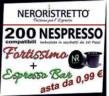 200 Capsule Cialde Caffe Compatibili 100% NESPRESSO FORTISSIMO ESPRESSO BAR