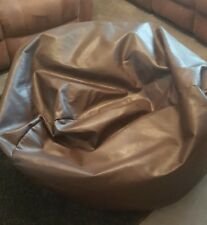 NEXT Faux Leather Large Brown Beanbag - Perfect condition