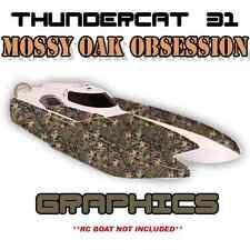 ProBoat ThunderCat 31 - MossyOak - Custom Decal Kit  Premium Boat Graphics