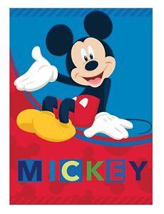 Mickey Mouse Character Fleece Blanket Throw Bedroom Children Kid Disney
