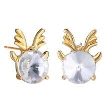 HOT Charm Rhinestone XMAS Christmas Reindeer Animal Earrings Stud Women Jewelry