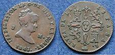 MONETA COIN SPAGNA SPAIN ISABELLA II REINA DE LAS ESPAÑAS - 2 MARAVEDIS 1843 -
