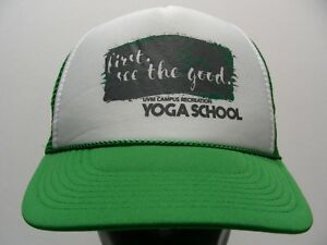 FIRST, SEE THE GOOD - YOGA SCHOOL - TRUCKER STYLE SNAPBACK BALL CAP HAT!