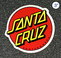 Santa Cruz Classic Dot Skateboard Sticker Red/Yellow 3in circle si